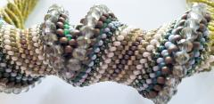 Paola B Murano glass beads hand made costume necklace by artist Paola B  - 986605