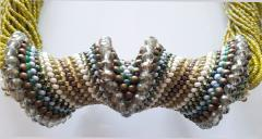 Paola B Murano glass beads hand made costume necklace by artist Paola B  - 986607