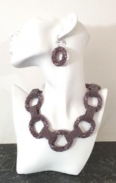 Paola B Pair of Purple Murano glass beads hand made earrings by artist Paola B  - 989074