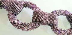 Paola B Purple and pink hues Murano glass beads necklace by Venetian artist Paola B  - 1076682