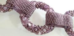 Paola B Purple and pink hues Murano glass beads necklace by Venetian artist Paola B  - 1076684