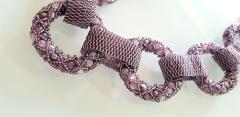 Paola B Purple and pink hues Murano glass beads necklace by Venetian artist Paola B  - 1076686