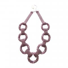 Paola B Purple and pink hues Murano glass beads necklace by Venetian artist Paola B  - 1076831