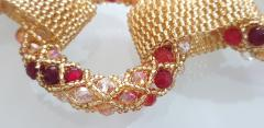 Paola B Unique Gold and red Murano glass beads hand made necklace by Paola B  - 982365
