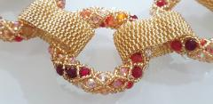 Paola B Unique Gold and red Murano glass beads hand made necklace by Paola B  - 982367