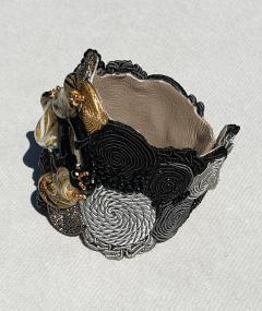 Paola B Unique Murano glass beads silk fashion bracelet by Venetian artist Paola B  - 1088677