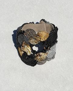 Paola B Unique Murano glass beads silk fashion bracelet by Venetian artist Paola B  - 1088678