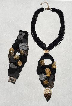 Paola B Unique Murano glass beads silk fashion bracelet by Venetian artist Paola B  - 1088685