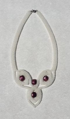 Paola B Unique purple clear Murano glass beads hand made fashion necklace by Paola B  - 1086660