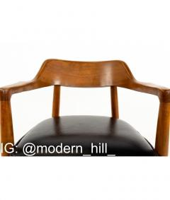 Paoli Mid Century Walnut Dining Occasional Chairs Set of 4 - 1810320