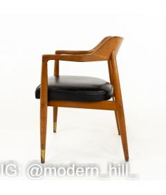Paoli Mid Century Walnut Dining Occasional Chairs Set of 4 - 1810326