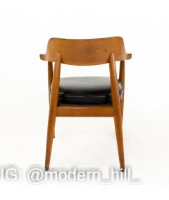 Paoli Mid Century Walnut Dining Occasional Chairs Set of 4 - 1810328
