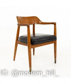 Paoli Mid Century Walnut Dining Occasional Chairs Set of 4 - 1810356