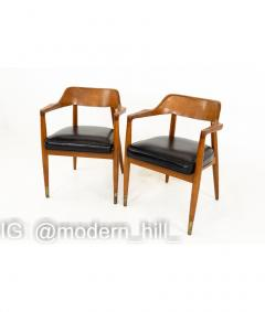Paoli Mid Century Walnut Dining Occasional Chairs Set of 4 - 1810371