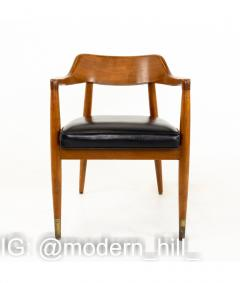Paoli Mid Century Walnut Dining Occasional Chairs Set of 4 - 1810403