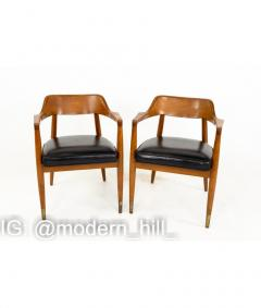 Paoli Mid Century Walnut Dining Occasional Chairs Set of 4 - 1810404