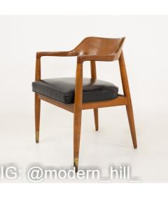 Paoli Mid Century Walnut Dining Occasional Chairs Set of 4 - 1810405