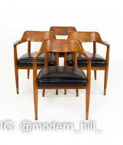 Paoli Mid Century Walnut Dining Occasional Chairs Set of 4 - 1810406
