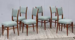 Paolo Buffa 1960s Mid Century Modern Oak Italian Dining Chairs - 2027874