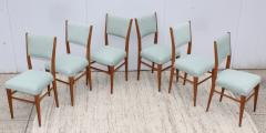 Paolo Buffa 1960s Mid Century Modern Oak Italian Dining Chairs - 2027875