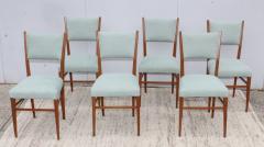 Paolo Buffa 1960s Mid Century Modern Oak Italian Dining Chairs - 2027876