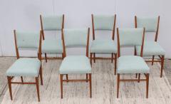 Paolo Buffa 1960s Mid Century Modern Oak Italian Dining Chairs - 2027877