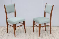 Paolo Buffa 1960s Mid Century Modern Oak Italian Dining Chairs - 2027878