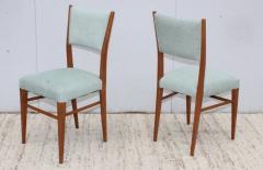 Paolo Buffa 1960s Mid Century Modern Oak Italian Dining Chairs - 2027879