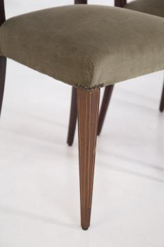 Paolo Buffa Eight Mid Century Velvet Chairs in the Style of Paolo Buffa in Walnut - 2089914