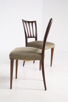 Paolo Buffa Eight Mid Century Velvet Chairs in the Style of Paolo Buffa in Walnut - 2089915