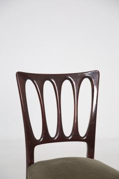 Paolo Buffa Eight Mid Century Velvet Chairs in the Style of Paolo Buffa in Walnut - 2089916