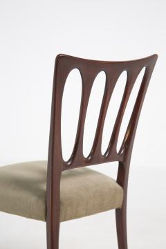 Paolo Buffa Eight Mid Century Velvet Chairs in the Style of Paolo Buffa in Walnut - 2089917