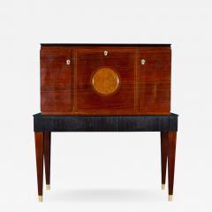Paolo Buffa Fine Midcentury Trumeau Bar Cabinet Attr to Paolo Buffa 1950 - 1996550