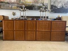 Paolo Buffa Italian Modern Fruitwood Parquetry Inlaid Cabinet Paolo Buffa - 1920133