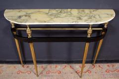 Paolo Buffa Italian Modernist Midcentury Oval Shaped Gilt Bronze Console Table - 1622645