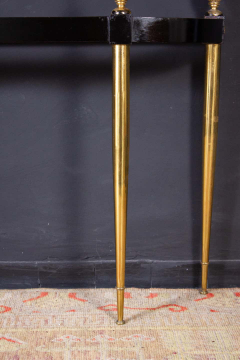 Paolo Buffa Italian Modernist Midcentury Oval Shaped Gilt Bronze Console Table - 1622648