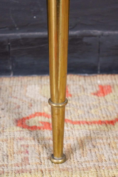 Paolo Buffa Italian Modernist Midcentury Oval Shaped Gilt Bronze Console Table - 1622651