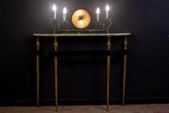 Paolo Buffa Italian Modernist Midcentury Oval Shaped Gilt Bronze Console Table - 1622654