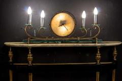 Paolo Buffa Italian Modernist Midcentury Oval Shaped Gilt Bronze Console Table - 1622657