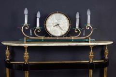 Paolo Buffa Italian Modernist Midcentury Oval Shaped Gilt Bronze Console Table - 1622662