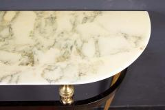 Paolo Buffa Italian Modernist Midcentury Oval Shaped Gilt Bronze Console Table - 1622665