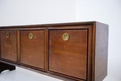 Paolo Buffa Italian Sideboard by Paolo Buffa in Walnut and Brass 1950s - 1888853