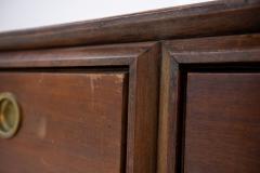 Paolo Buffa Italian Sideboard by Paolo Buffa in Walnut and Brass 1950s - 1888859