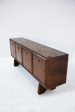 Paolo Buffa Italian Sideboard by Paolo Buffa in Walnut and Brass 1950s - 1888862