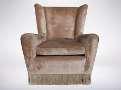 Paolo Buffa Mid Century Italian Wingback Armchair in the Style of Paolo Buffa from the 1960s - 946360