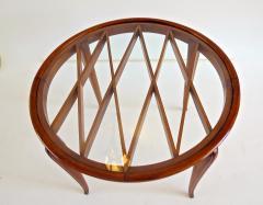 Paolo Buffa PAOLO BUFFA Grid Pattern Walnut Coffee Table 1940 - 1706748