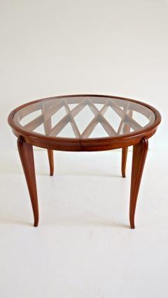 Paolo Buffa PAOLO BUFFA Grid Pattern Walnut Coffee Table 1940 - 1706751