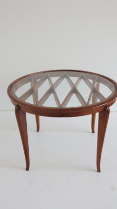 Paolo Buffa PAOLO BUFFA Grid Pattern Walnut Coffee Table 1940 - 1706752