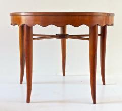 Paolo Buffa PAOLO BUFFA unique round dining table cherrywood five legs 1950 - 1701377