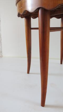 Paolo Buffa PAOLO BUFFA unique round dining table cherrywood five legs 1950 - 1701387